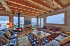 Cozy open plan living room